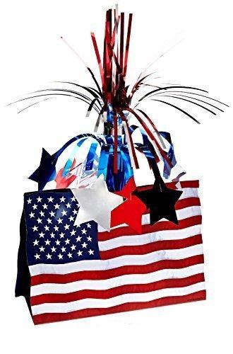 Patriotic American Flag Centerpiece 13 In.,