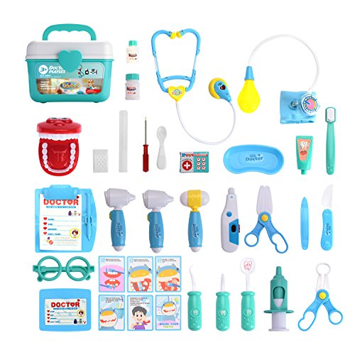 Juboury Toy Medical Kits 31 Pieces Dentist Medical Kit Only $14.29