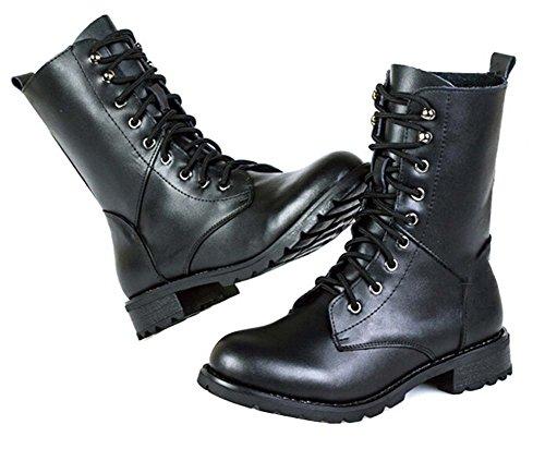 Herbst Martin Stiefel Damen Leder Flache Schuhe Damen Stiefel