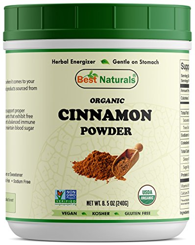 Best Naturals Certified Organic Cinnamon Powder 8.5 OZ (240 Gram), Non-GMO Project Verified & USDA Certified Organic