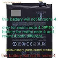 jacksunspareparts BN43 Battery for Xiaomi Redmi Note 4 4000 mAh (This Battery Will Not Fit Redmi 4)