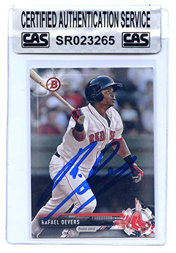 Rafael Devers Boston Red Sox Signed Autographed 2017 Bowman Baseball Prospects #BP101 Baseball Card CAS Certified ()
