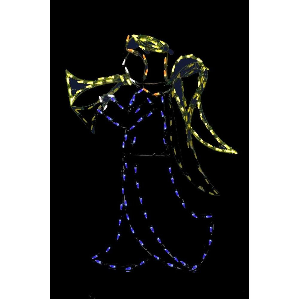 72 in. Animotion LED Christmas Angel Wire Decor Christmas Decoration