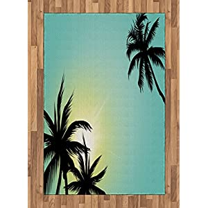 51aq0GtX6ZL._SS300_ Palm Tree Area Rugs and Palm Tree Runners