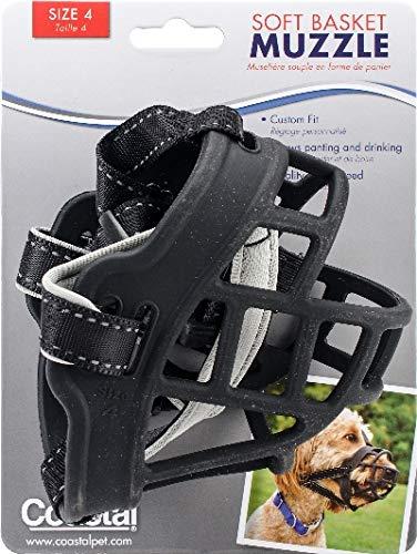 Coastal Pet 1365BLK4 Soft Basket Muzzle-Dalmatian, Pointer, -