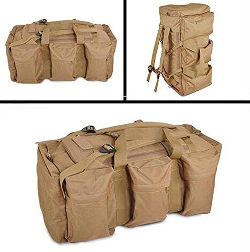 AMOS Al aire libre de gran capacidad portátil bolsa de hombro hombres y mujeres bolsa de equipaje hombro bolsa de viaje corto bolsa de viaje mochila ( Color : CP camouflage ) Khaki