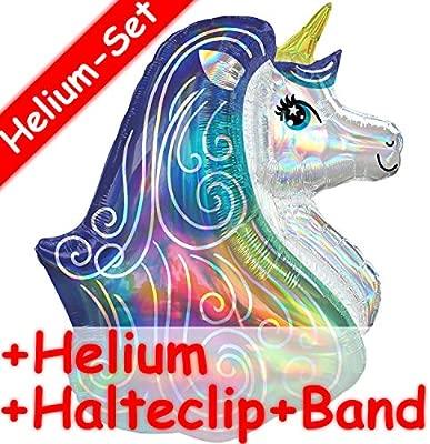 Juego de globos de unicornio + relleno de helio + clip de ...
