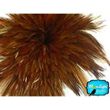 Rooster Feathers 4 Inch Strip Natural Red Strung Rooster Neck Hackle Feathers