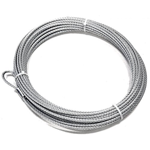 WARN 15712 Replacement Wire Winch Rope 3/8 in. x 125 - Warn Winch Replacement Cable