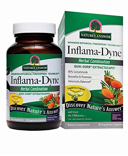 Nature's Answer Inflamadyne Complete Extract Capsules, 90 Caps - Support Healthy Inflammation, Turmeric, Curcumin, Boswellia Top Selling Anti Inflammatory Supplement