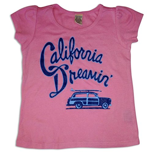 Sol Baby California Dreamin Pink Puff Sleeve Tee-5-Pink