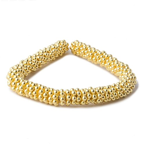 Vermeil Daisy Spacers Beads (4mm Vermeil Daisy Spacer Beads 4 inch 78 beads)