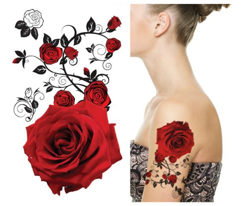Supperb® Tatouages temporaires - Red Roses
