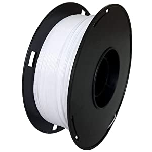 NovaMaker 3D Printer filament - White 1.75mm PETG Filament, PETG 1kg(2.2lbs), Dimensional Accuracy +/- 0.03mm