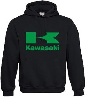 Kawasaki Motiv in Neongrün Girlie Kapuzenpullover