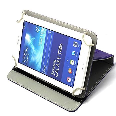 incluye l/ápiz capacitivo Funda universal de piel sint/ética y con giro de 360/º para tablets Android de 7 pulgadas