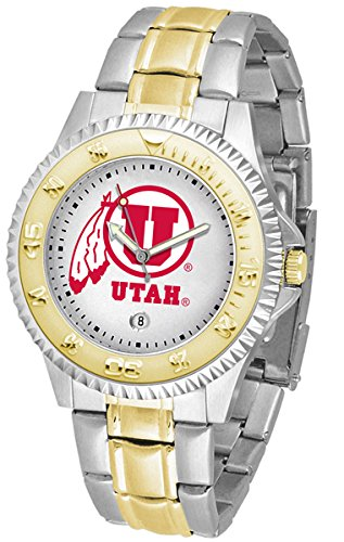 Utah Utes Competitor Two-Tone Men's Watch