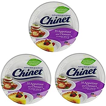 Chinet Appetizer and Dessert Plates 35-Count Packages (Pack of 3)  sc 1 st  Amazon.com & Amazon.com: Chinet 10 3/8 Dinner Plate 100-count Box: Health ...