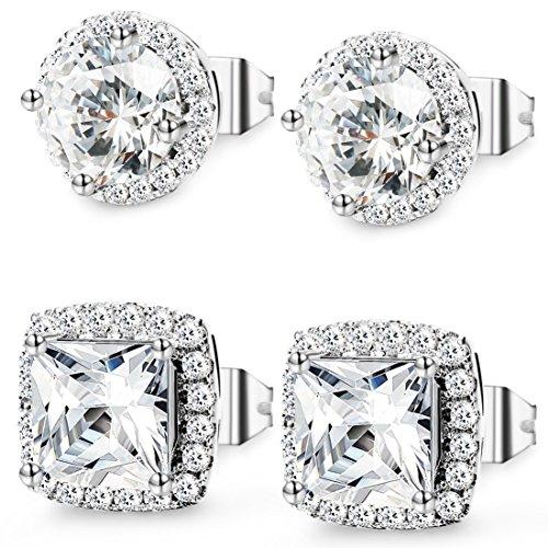 Jstyle Jewelry Earrings Zirconia Piercing