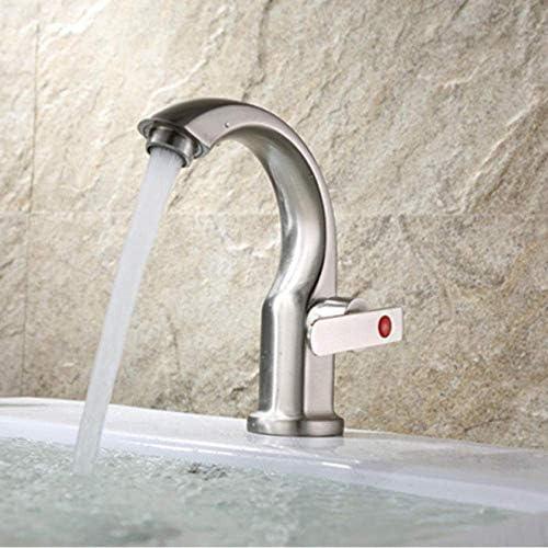 CHENBIN-BB 蛇口の浴室の洗面台の蛇口ステンレススチールクローム/ニッケルシングル冷たい水をタップシングルハンドルアウトドアユニークなデザインのシンクタップ