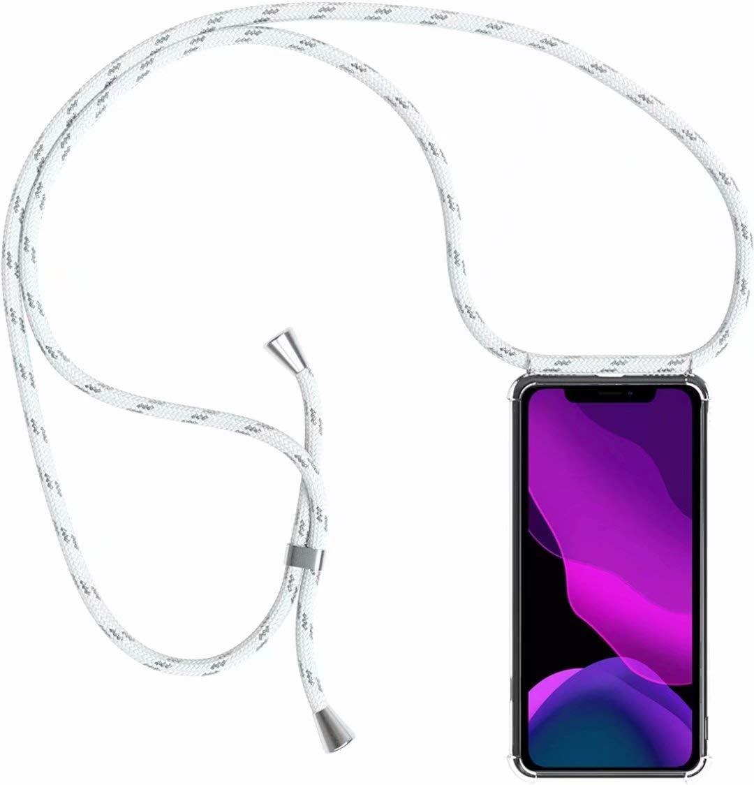 2ndSpring Funda con Cuerda Compatible con Samsung Galaxy A3 2017//A320,Colgante Collar Correa de Cuello Cadena Cord/ón,Arcoiris Amarillo