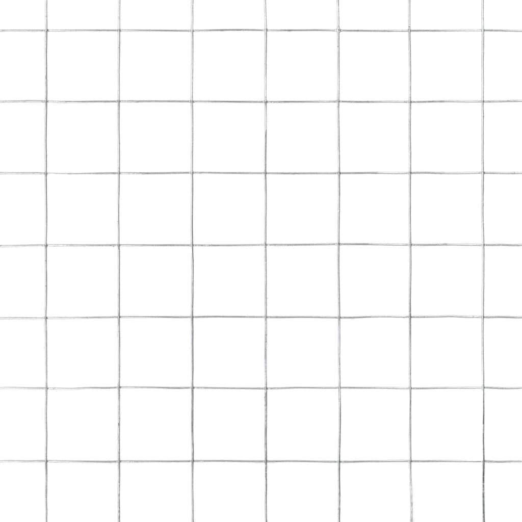 Tidyard Grillage de Cl/ôture Grillage de Plante Grillage de Petit Animal en Acier Galvanis/é Carr/é Argent/é 25 x 0,5 m