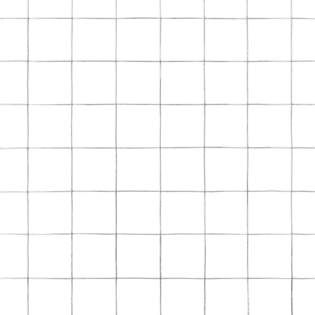 Tidyard Malla Alambre Malla Alambre Acero Cuadrado de Acero Galvanizado para Proteger Plantas y Animales Plateado de Dimensiones Generales 10 x 1,5 m