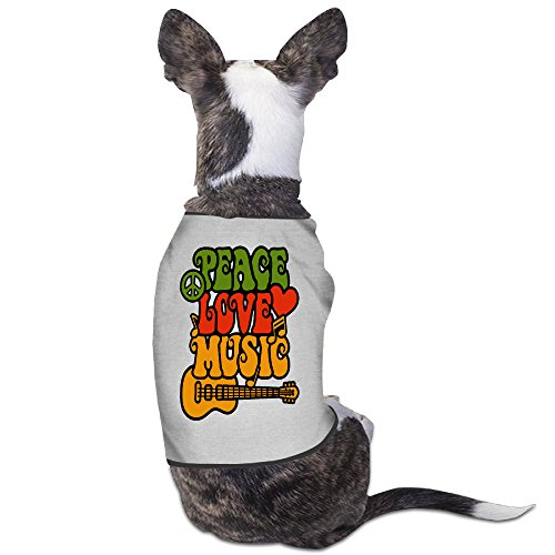 YRROWN Rasta Peace-Love-Music Puppy Dog Clothes (Outfits From The 80s)