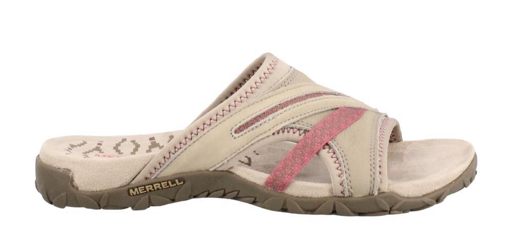 Merrell Women's Terran Slide II Athletic Sandal, Taupe, 7 M US