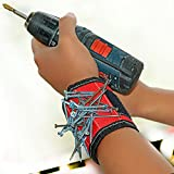 #5: Danslesbls Super Magnetic Wristband, Keeps Screws, Nails and Tools Handy While Working
