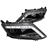 ford fusion headlight assembly - Spec-D Tuning LHP-FUS10JM-TM Ford Fusion 4dr Sedan Black Led drl Projector Headlights Lamps