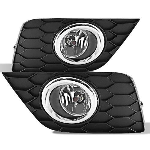 For 2016 2017 2018 Nissan Sentra Black Bezel Clear Lens Bumper Driving Fog Light W/Switch + Bulbs