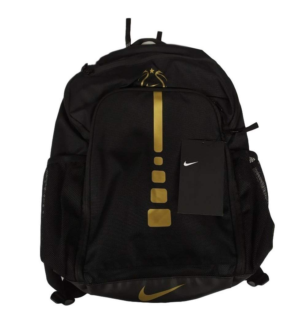 Nike Youth Girls Hoops Elite Basketball Backpack EYBL Black Gold ...