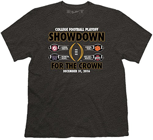 2017 College Football Playoff Showdown for the Crown Four Team T-Shirt (Large)
