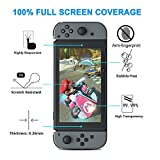 Nintendo Switch Case ,Vorida Transparent Hard Case Cover Anti-Scratch Crystal Protector Shock-Absorption Bumper Ultra Thin With Tempered Glass Screen Protector Joy Con Grips For Nintendo Switch