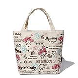 Hadaboo Little Twin Stars Canvas Kids Lunch Bag mochila Women Shopping Storage Bag