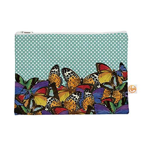 Kess eigene 12,5x 21,6cm Suzanne Carter Butterfly Polka Alles Tasche–blaugrün/Multicolor