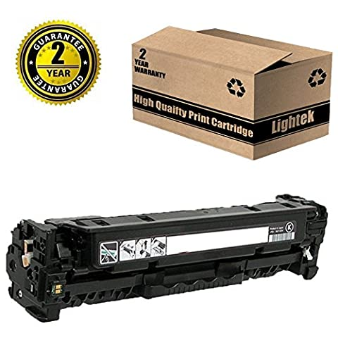 Lightek Replacement for HP CE320A 128A Canon 116 Black Toner Cartridge for use with HP LaserJet CP1525n CP1525nw CM1415fn CM1415fnw, Canon MF8080cw Series Printer, 1 (Hp Print Cartridge Ce320a)