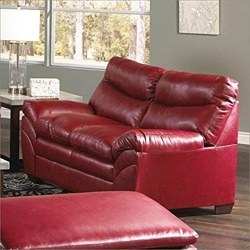 Simmons Upholstery Soho Bonded Leather Loveseat