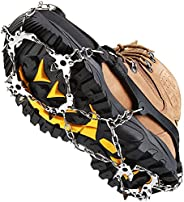 Upgraded 19 Spikes Stainless Steel Crampons Ice Cleats Snow Shelter Grips - Anti Slip Microspikes for Boots Sh