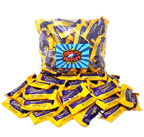 CrazyOutlet Pack - Cadbury Royal Dark Chocolate Salted Caramel, Snack Size Candy Bar, 2 lbs
