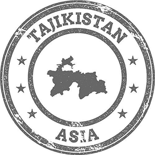 Review Tajikistan Map Asia Grunge