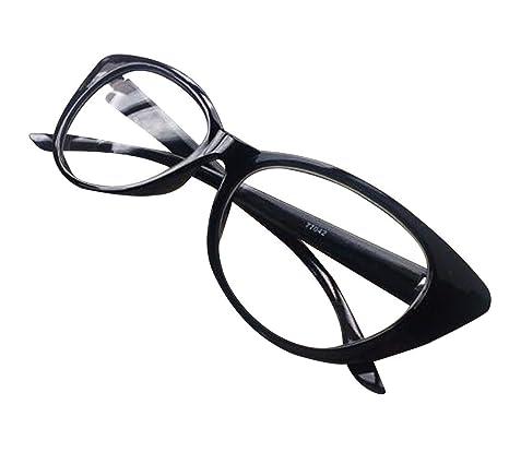 bb39ef95c88bc Buy Black   Aimeart Retro Vintage Women s Eyeglasses Cat Eye Glasses  Plastic Frame NO LENS