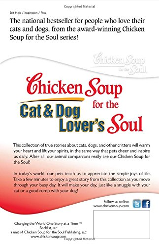 Chicken Soup for the Cat & Dog Lover's Soul: Celebrating Pets as