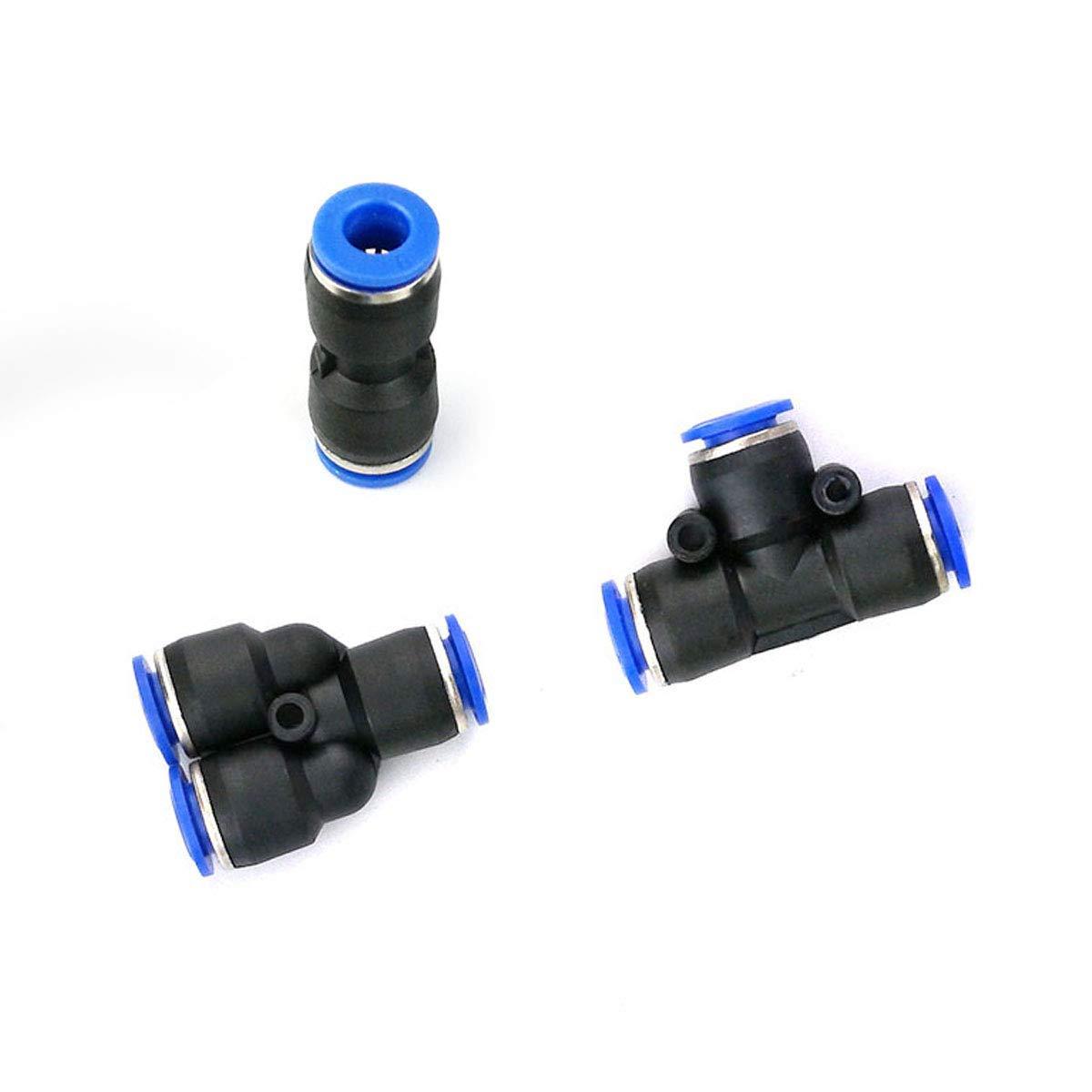 conectores a presi/ón 15 piezas Conector de accesorios neum/áticos r/ápido accesorios r/ápidos neum/áticos de 8 mm