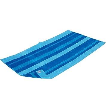 Xxl Strandtuch Duschtuch Badetuch Blue Stripe Im Streifen Design
