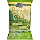 Lundberg Family Farms Rice Chips, Fiesta Lime, 6 Ounce