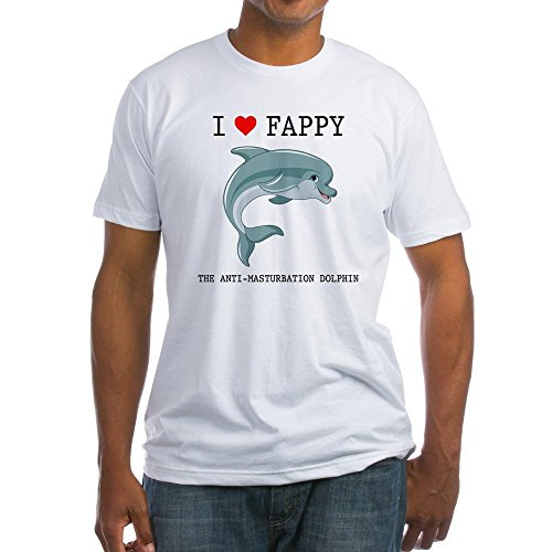 a597a34b57e CafePress - I Heart Fappy, The Anti-Masturbation Dolphin T-Shi - Fitted T- Shirt, Vintage Fit Soft Cotton Tee - Buy Online in UAE. | Apparel Products  in the ...