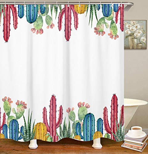 Cactus Shower Curtains ⋆ 50 Ideas For Your Bathroom Decor