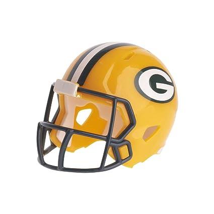 6019dd46 Amazon.com : Green Bay Packers NFL Riddell Speed Pocket PRO Micro/Pocket -Size/Mini Football Helmet : Sports & Outdoors